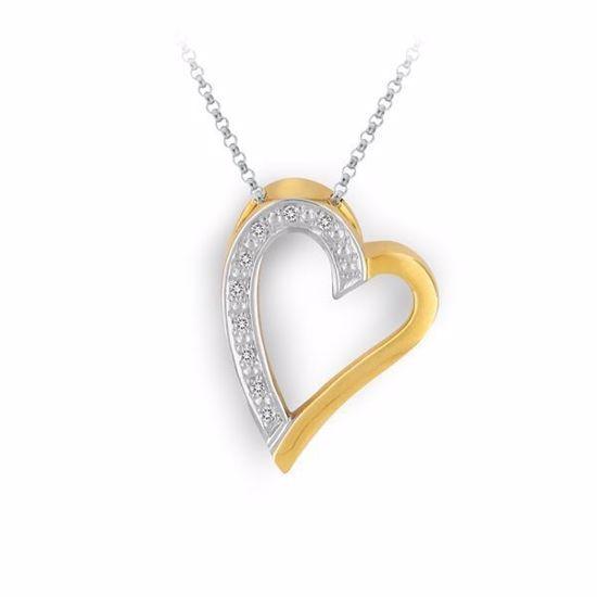 Diamanthjerte i gull med 0,04 W-Si - 231410