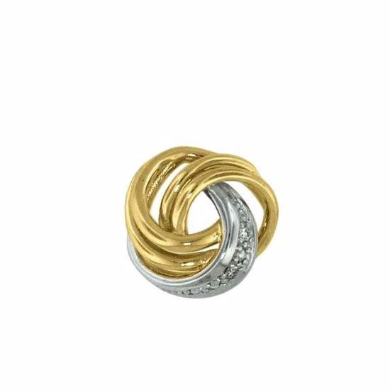 Diamantsmykke i gull med 0,015 ct W-P1-310274