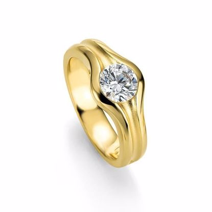 Diamantring gull med 0,25 ct W-Si - 4104849