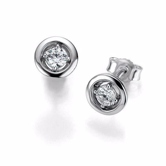 Diamant øredobber med 2/0,25 ct W-Si -105263