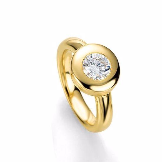 Diamantring gull med 0,25 ct W-Si - 4104843