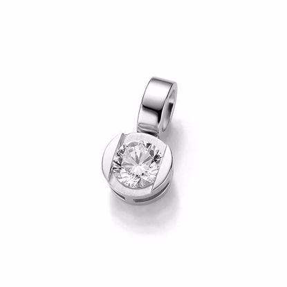 Diamantsmykke i gull med 0,25 ct W-Si -3103928