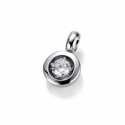 Diamantsmykke i gull med 0,25 ct W-Si -3103922