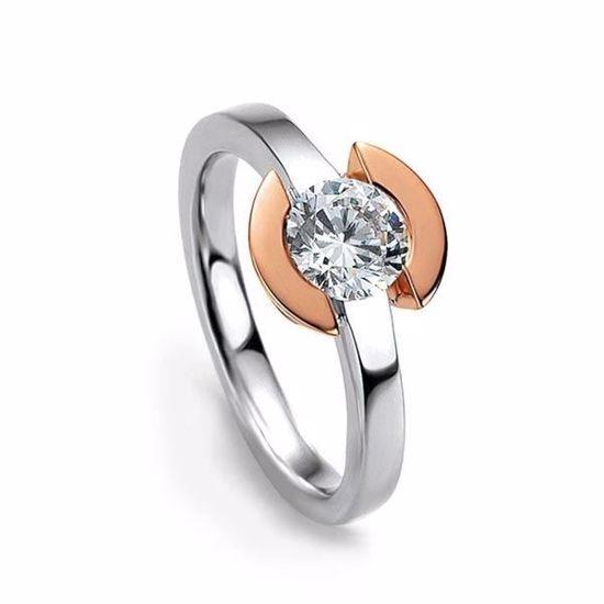 Diamantring gull med 0,25 ct W-Si - 4104855