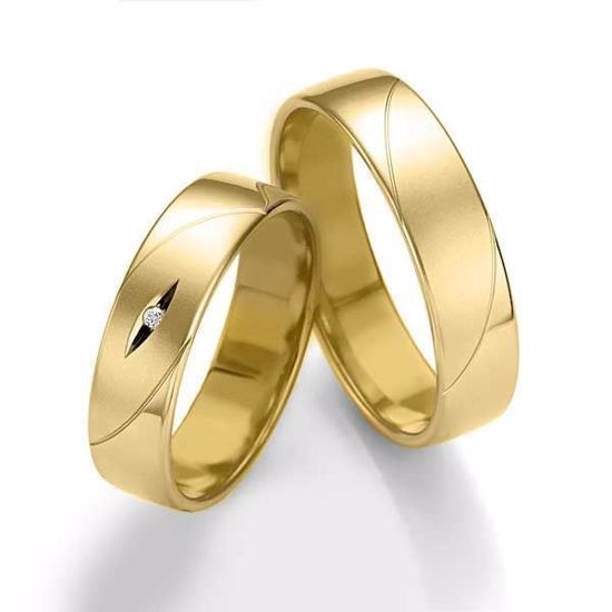 Gifteringer i gult gull 14 kt, 5.5 mm. Smart line - 48070850