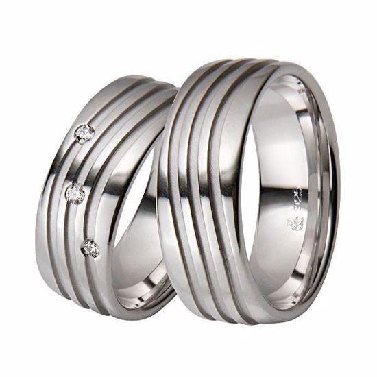 Gifteringer i sølv rhodinert, 8 mm. RAUSCHMAYER - 1008700