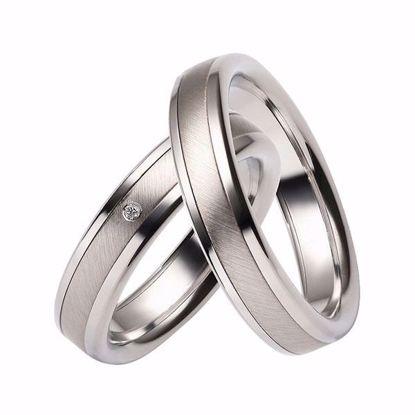 Gifteringer i stål & palladium, 5 mm. RAUSCHMAYER - 1160049