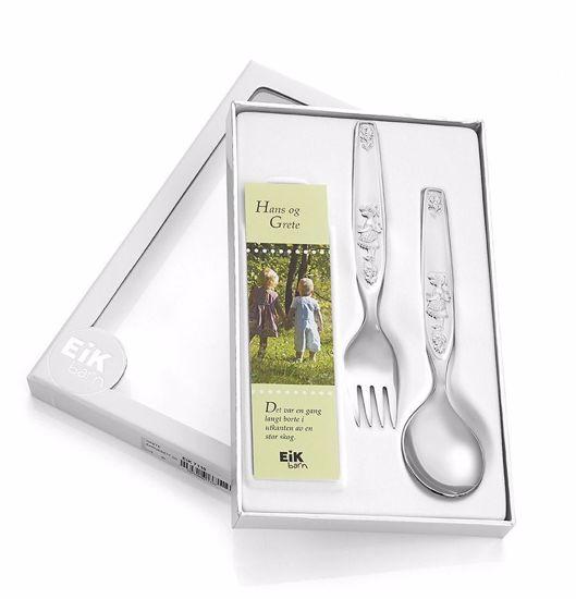 Grete barnesett sølv-plett,lengde 14,5cm - 7110