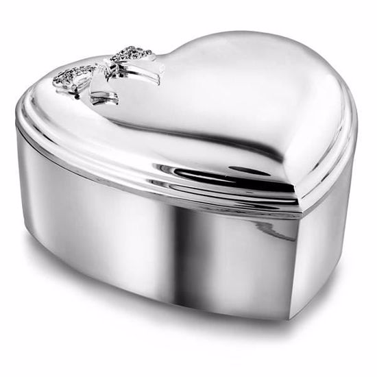 Smykkeskrin i forsølvet med sløyfe - 85003