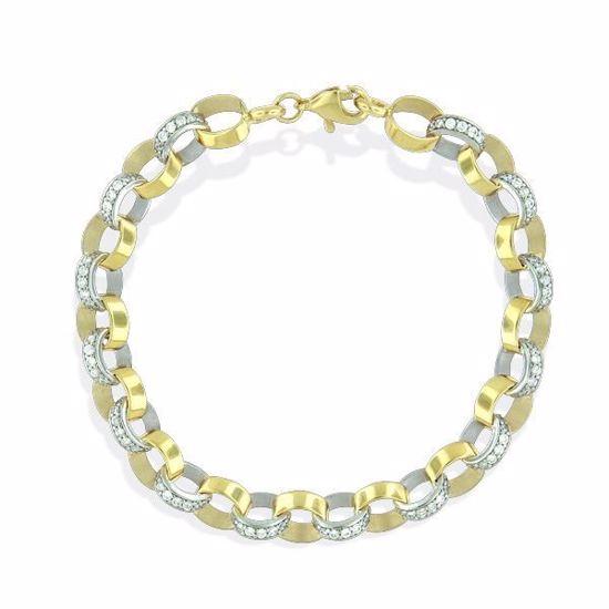Armbånd i hvitt og gult gull 14kt -5130