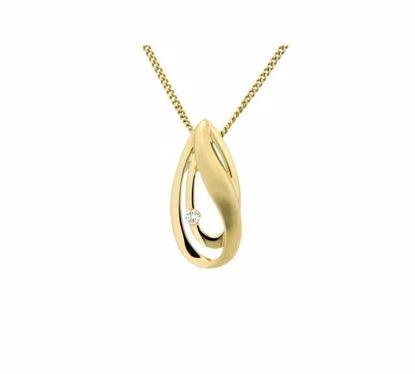Diamantsmykke i gull med 0,02 ct W-Si -242452