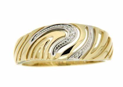 Diamantring i hvitt og gult gull med 0,03 ct W-Si -537002