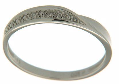 Diamantring i hvitt gull med 0,01 ct W-P1 -630429