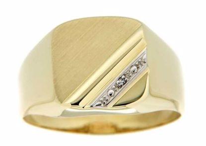 Diamantring i gult og hvitt gull 9 kt -810273
