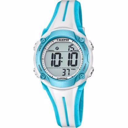 Calypso  Digital klokke, blå/hvitt  rem- K5682-8