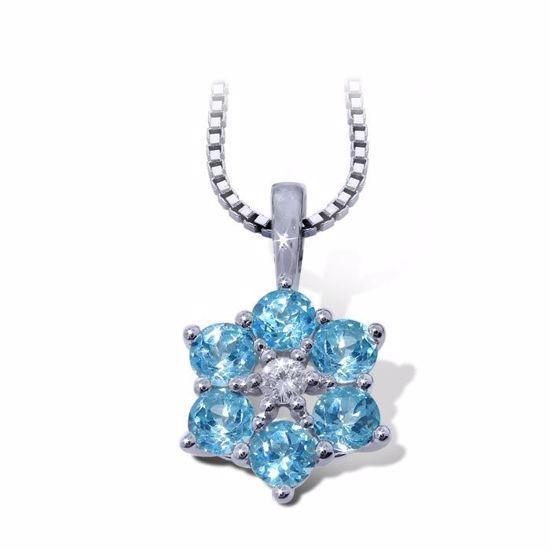 diamantsmykke med topas