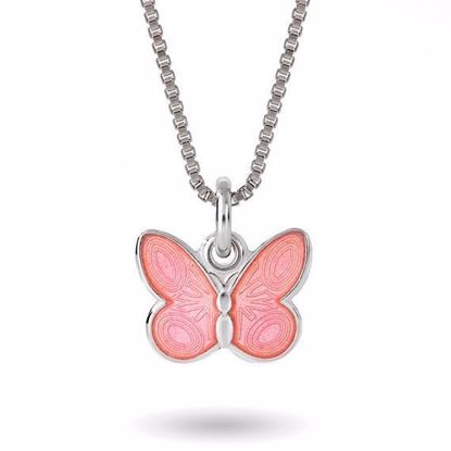 Smykke Rosa sommerfugl i sølv