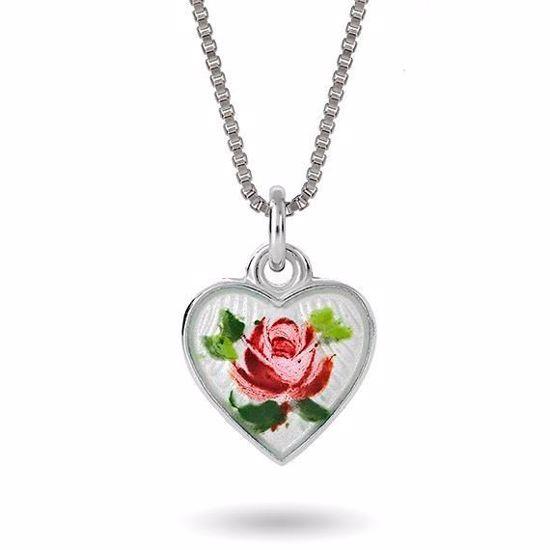 Smykke Rose sommerfugl i sølv