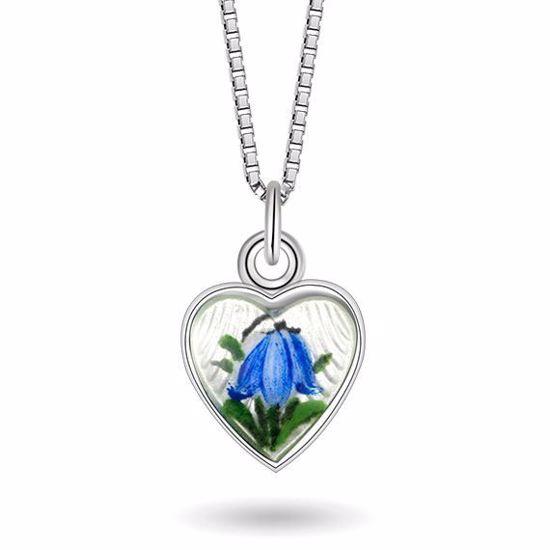 Smykke Blåklokke sommerfugl i sølv