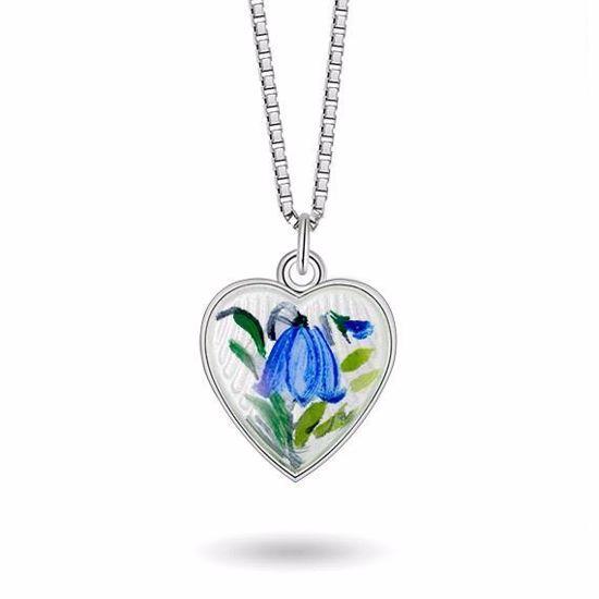 Smykke Blåklokke hjerte i sølv