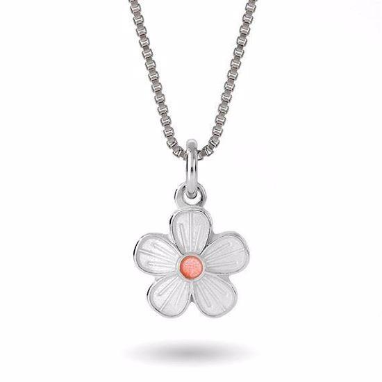 Smykke Hvit blomst i sølv