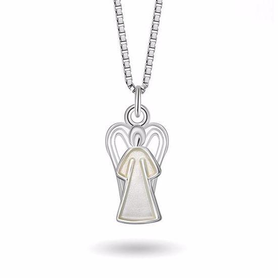 Smykke Hvit engel i sølv, til barn