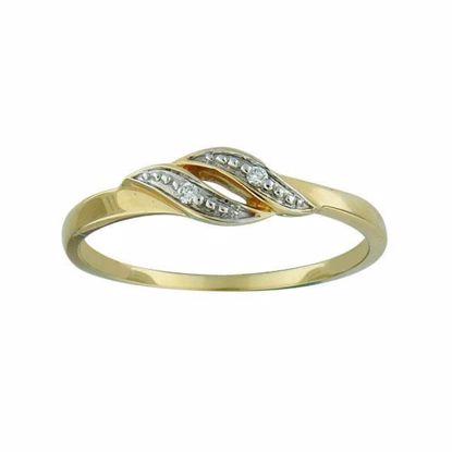 Diamantring i gult gull med 0,015 ct TW-Si-202157-1