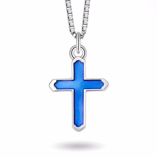Smykke Blått kors i sølv