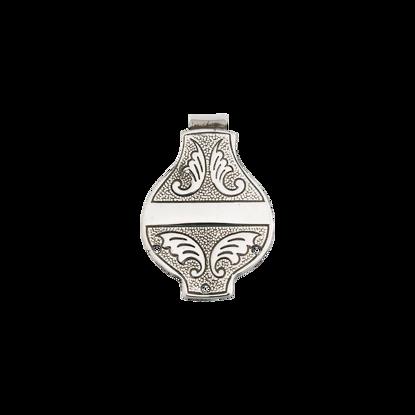 Veskekrok, sølv oksidert