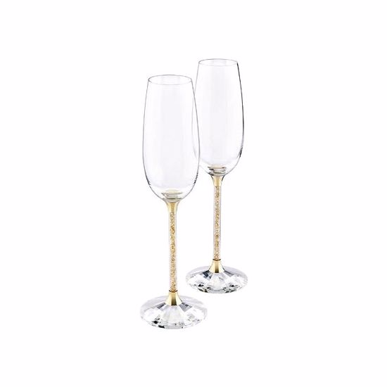 Swarovski. Crystalline Toasting Flutes, Gold Tone (Set of 2) - 5102143