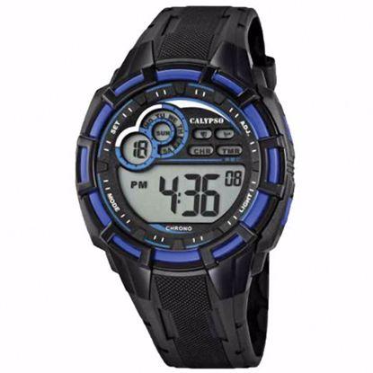 Calypso Digital gutteklokke, sort & blå -K5625-2