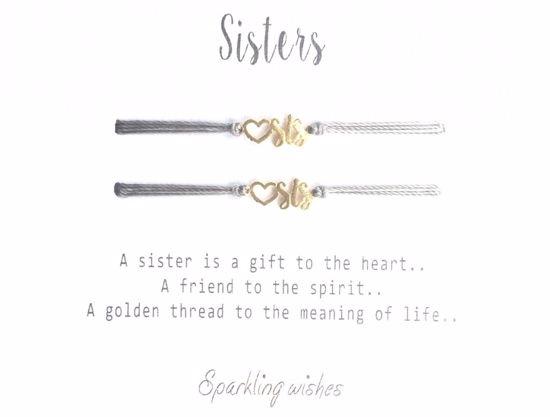 Sisters dobbelt armbånd i forgylt sølv. JOYTAG - 754
