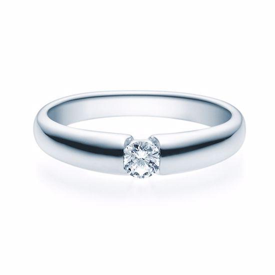 Enstens diamantring med 0,20 ct TW-Si i platina -18006020pt