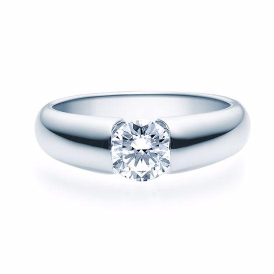 Enstens diamantring med 0,70 ct TW-Si i platina -18006070pt