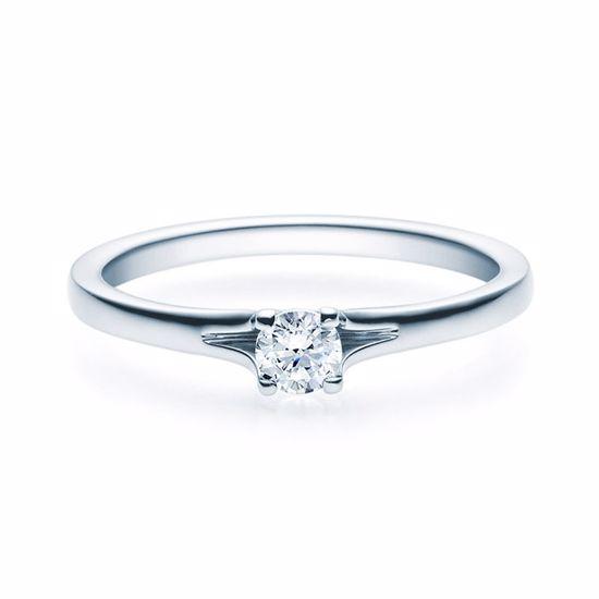 Enstens diamantring med 0,20 ct i 14kt gull. TW-Si. -18020020