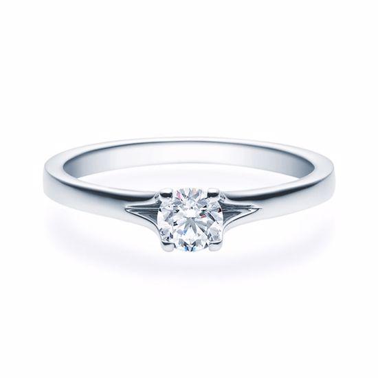 Enstens diamantring med 0,30 ct i 14kt gull. TW-Si. -18020030