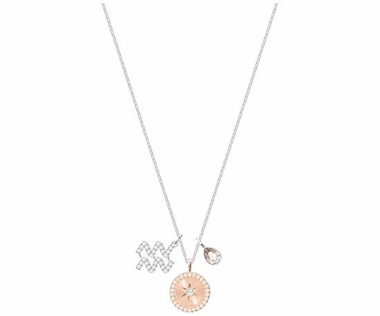 Swarovski smykke Zodiac, Aquarius, Gray, Rhodium plating - 5349213