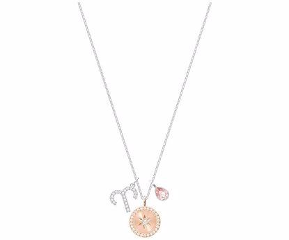 Swarovski smykke Zodiac, Aries, Pink, Rhodium plating - 5349220