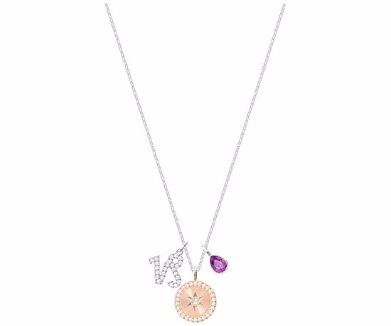 Swarovski smykke Zodiac, Capricorn, Purple, Rhodium plating -  5349216