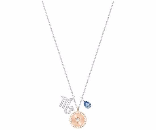 Swarovski smykke Zodiac, Scorpio, Teal, Rhodium plating - 5349222