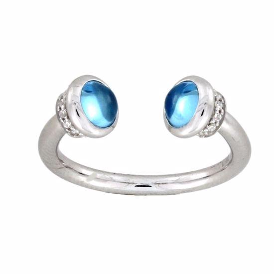 Ring i sølv med ekte turkis stein -322-1193