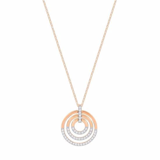 Swarovski smykke Circle, Medium, Rose gold - 5349193