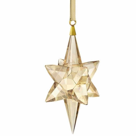 Swarovski figurer. Star Ornament, Gold Tone, large - 5301220