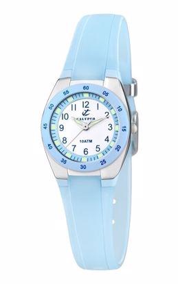 Calypso barneur 100m blå /blå transp.rem - K6043-D