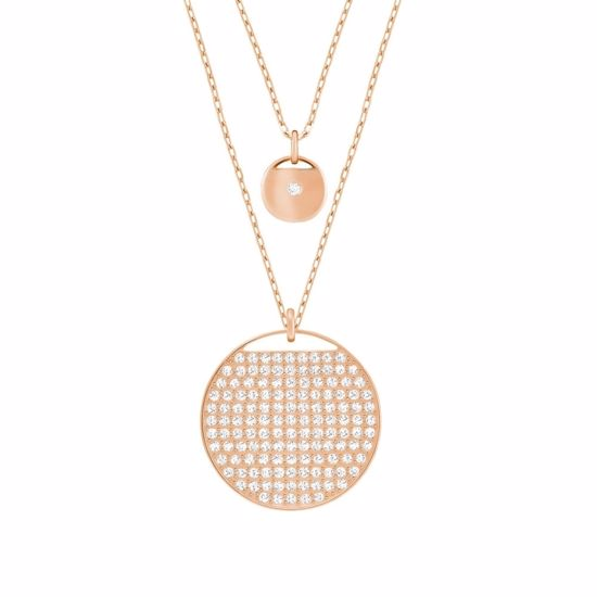 Swarovski smykke Ginger Layered, Rose gold plating - 5253286