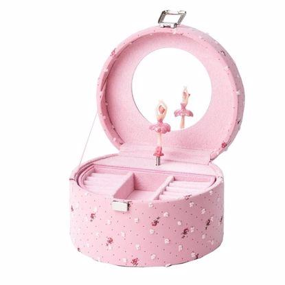 Smykkeskrin med ballerina, Rosa/rosa - 32725-1
