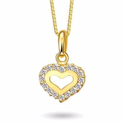 Smykke Halskjede i gull - Hjerte, til barn -52065
