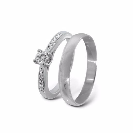 Giftering & diamantring gull 14 kt, - ABR00874-3_2303030