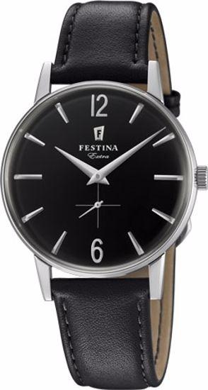 Festina Extra klokke stål 30m, sort rem, sort skive - F20248-4