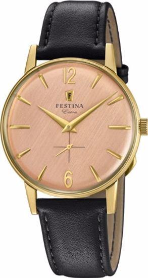 Festina Extra klokke duble 30m, brun rem, rosa skive - F20249-3